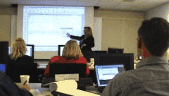 Businesswoman Presenting CRM Courses - Mundelein, IL